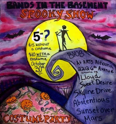 Spooky show Bands in the basement will happen at the ArtsAltoona Center Oct. 30th. Dont forget your costume.