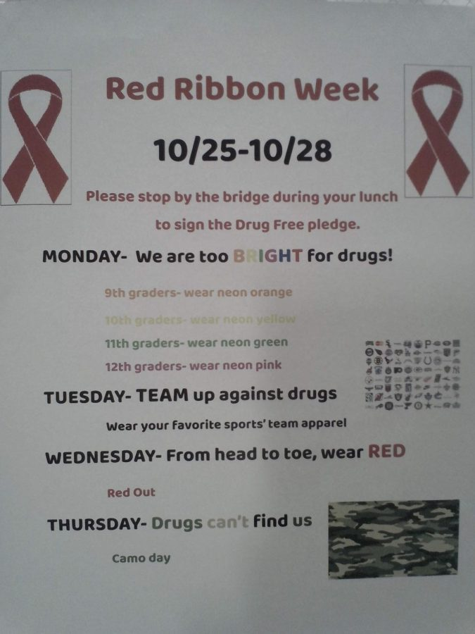Red Ribbon Week scheduled for last week of October