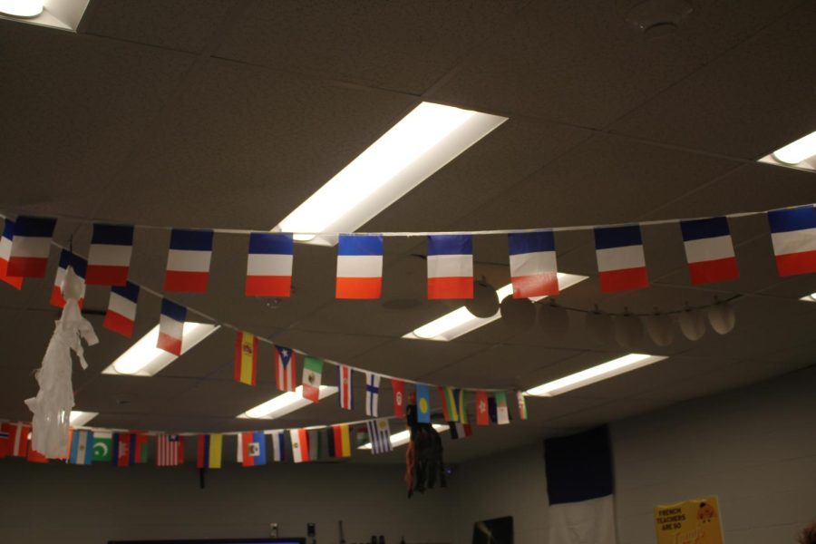 Wave the flag Showing pride for many countries, the FLC hangs flags in celebration of other countries around the world.