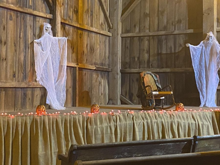 The stage is in great use at the fort as ghosts love the attention of visitors. The stage at Fort Roberdeau was covered in spooky decorations this weekend.