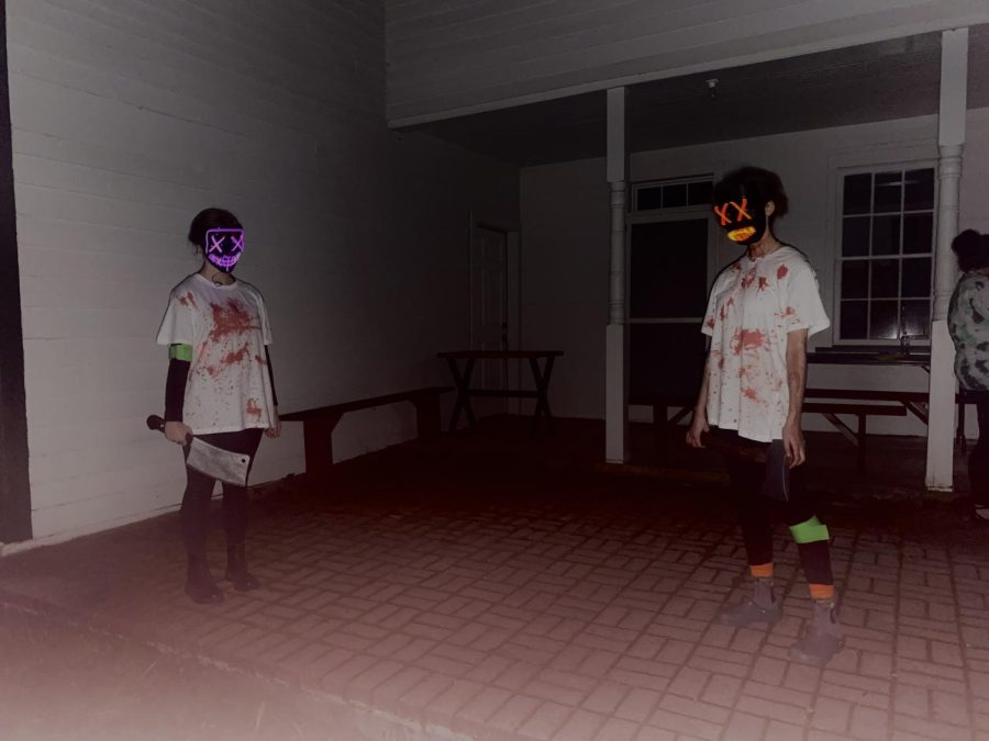 Astronomy club members scare guests at haunted Fort Roberdeau. The attraction brings in revenue for the Fort.
